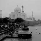 Taj during monsoon by Jeff Barnard