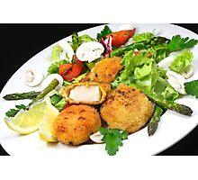 Scallops & Salad Photographic Print