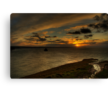 Cornwall Sunset Canvas Print