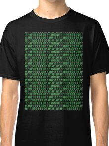 Binary code on old fashioned computer screen wallpaper Classic T-Shirt