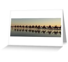 Cable Beach Camel Reflections (View Large) Greeting Card