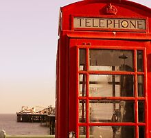 Phone Booth in Brighton by CRGArtDesign
