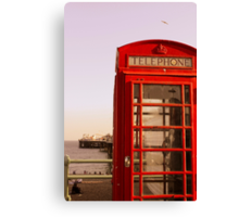 Phone Booth in Brighton Canvas Print