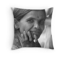 Indian woman. Throw Pillow