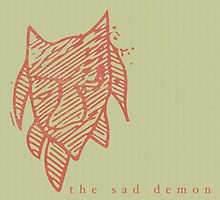 The sad demon (card/sticker) by mitsels