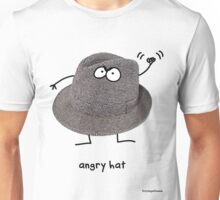 Angry Hat Unisex T-Shirt