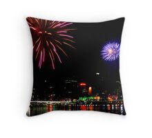 Fire works in Brissy Throw Pillow