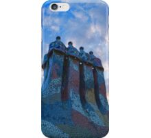 Sunset Colored Chimneys - Impressions Of Barcelona iPhone Case/Skin