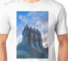 Sunset Colored Chimneys - Impressions Of Barcelona Unisex T-Shirt