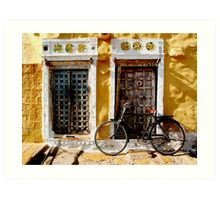 Jaisalmer doorways Art Print