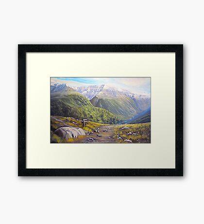 Routeburn Valley Framed Print