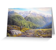 Routeburn Valley Greeting Card
