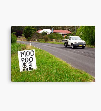 Moo Poo - Candelo Canvas Print