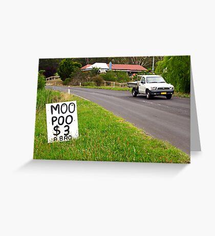 Moo Poo - Candelo Greeting Card