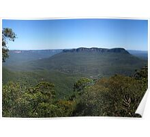 View to Mount Solitary - Blue Mountains National Park Poster