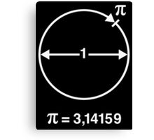 Pi / ∏ / π / Mathematics / Geometry (INT / White) Canvas Print