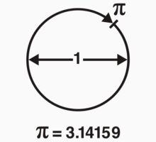 Pi / ∏ / π / Mathematics / Geometry (UK & US / Black) by MrFaulbaum