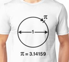 Pi / ∏ / π / Mathematics / Geometry (UK & US / Black) Unisex T-Shirt