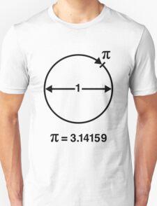 Pi / ∏ / π / Mathematics / Geometry (UK & US / Black) T-Shirt