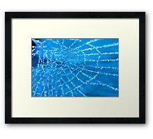 Diamond Blue Framed Print