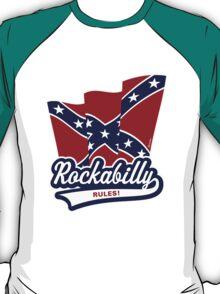 Rockabilly Rules Flag T-Shirt