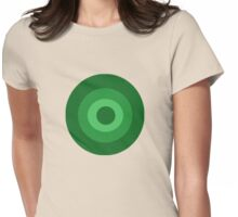 Green Target  Womens Fitted T-Shirt