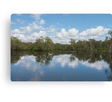 Oil water hole Canvas Print