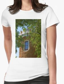 Fairy Tale Building Through the Trees - Impressions Of Barcelona Womens Fitted T-Shirt