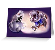Olaf & Ziggs  Greeting Card