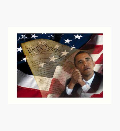 Patriotic America Art Print