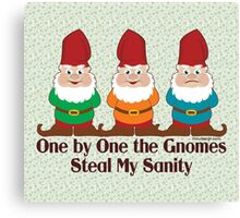 One By One The Gnomes Canvas Print