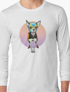 Luchador Chihuahua Dog Long Sleeve T-Shirt