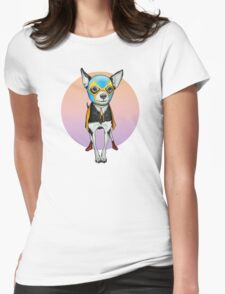 Luchador Chihuahua Dog Womens Fitted T-Shirt