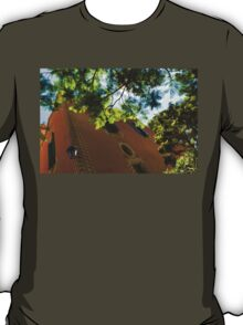 Whimsical  Building Through the Trees - Impressions Of Barcelona T-Shirt