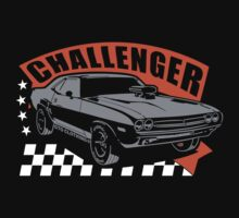 Dodge Challenger | Grey - Orange - White by GTOclothing