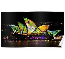 Scaley Sails - Sydney Vivid Festival - Australia Poster