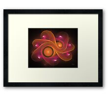'Light Flame Abstract 171BLK' Framed Print