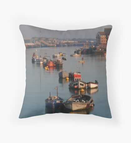 River Adur Moorings  Throw Pillow