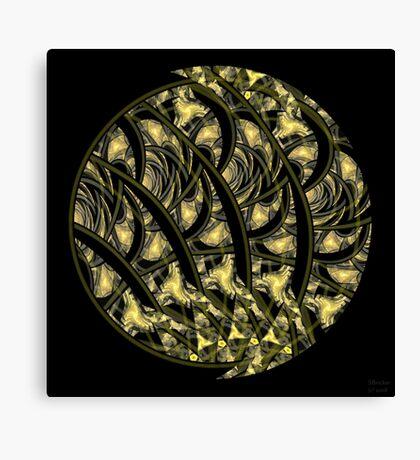 'Glowing Woodcut' Canvas Print