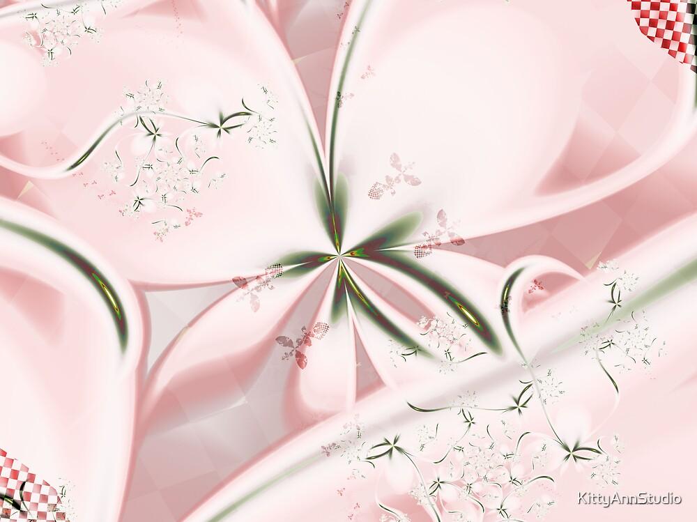 Checkered Flowers by KittyAnnStudio