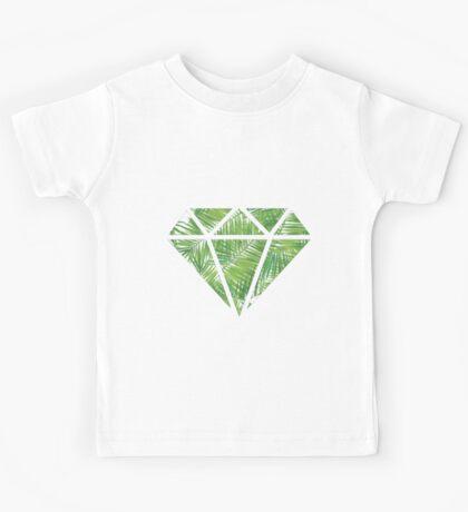 Palm Tree Diamond Kids Tee