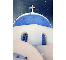 Greek Chapel Photographic Print