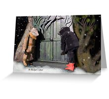 Wind in the Willows - At Badger's Door Greeting Card