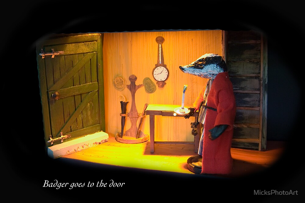 Wind in the Willows - Badger goes to the Door  by MicksPhotoArt