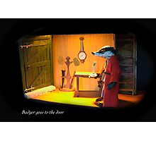 Wind in the Willows - Badger goes to the Door  Photographic Print