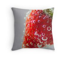 Strawberry Bubbles Throw Pillow
