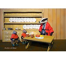 Wind in the Willows  - Breakfast with Badger Photographic Print