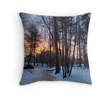 Sudbury Sunrise Jan 2 2009 Throw Pillow