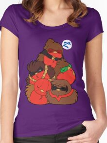 Go!Robins! - A pile of Robins Women's Fitted Scoop T-Shirt