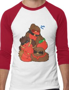 Go!Robins! - A pile of Robins Men's Baseball ¾ T-Shirt